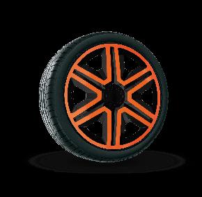 "Radkappen für FIAT BLUE 14"", ACTION DOUBLECOLOR orange-schwarz 4 Stück"