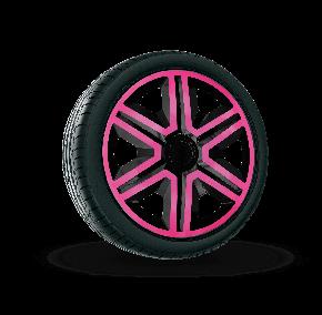 """Radkappen für FIAT BLUE 14"""", ACTION DOUBLECOLOR rosa und schwarz 4 Stück"""