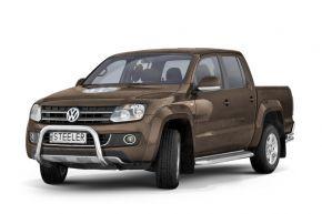 Frontbügel Frontschutzbügel Bullbar Steeler für Volkswagen Amarok 2009-2016 Modell U