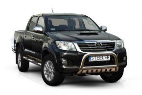 Frontbügel Frontschutzbügel Bullbar Steeler für Toyota Hilux 2005-2011-2015 Modell S