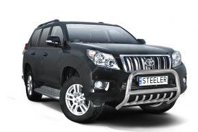 Frontbügel Frontschutzbügel Bullbar Steeler für Toyota Land Cruiser 150 2010-2013 Modell G
