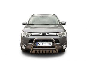 Frontbügel Frontschutzbügel Bullbar Steeler für MITSUBISHI OUTLANDER 2012-2015 Modell S