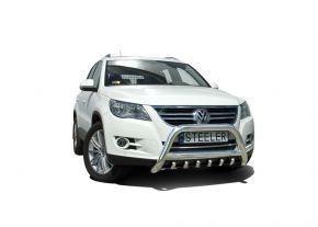 Frontbügel Frontschutzbügel Bullbar Steeler für Volkswagen Tiguan 2010- Modell G