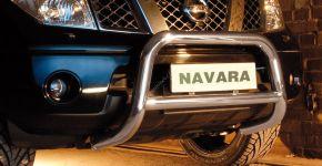 Frontbügel Frontschutzbügel Bullbar Steeler für Nissan Navara 2005-2010 Modell A