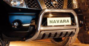 Frontbügel Frontschutzbügel Bullbar Steeler für Nissan Navara 2010-2015 Modell S