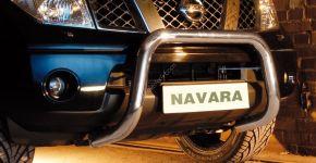 Frontbügel Frontschutzbügel Bullbar Steeler für Nissan Navara 2010-2015 Modell U