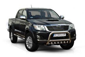 Frontbügel Frontschutzbügel Bullbar Steeler für Toyota Hilux 2005-2011-2015 Modell G