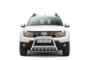 Frontbügel Frontschutzbügel Bullbar Steeler für Dacia Duster 2010-2014-2018 Modell G