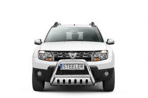 Frontbügel Frontschutzbügel Bullbar Steeler für Dacia Duster 2010-2014-2018 Modell S