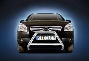 Frontbügel Frontschutzbügel Bullbar Steeler für Nissan Qashqai 2007-2010 Modell A