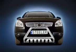 Frontbügel Frontschutzbügel Bullbar Steeler für Nissan Qashqai 2007-2010 Modell S