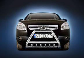 Frontbügel Frontschutzbügel Bullbar Steeler für Nissan Qashqai 2007-2010 Modell G