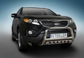 Frontbügel Frontschutzbügel Bullbar Steeler für Kia Sorento 2010-2012 Modell S