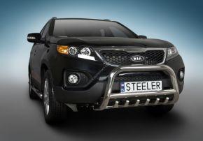 Frontbügel Frontschutzbügel Bullbar Steeler für Kia Sorento 2010-2012 Modell G