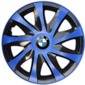"""Radkappen für BMW 14"""", DRACO blau 4 Stück"""