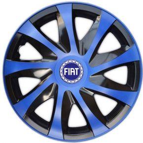 "Radkappen für FIAT 14"", DRACO blau 4 Stück"