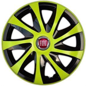 "Radkappen für FIAT 15"", DRACO grün 4 Stück"