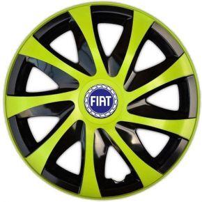 "Radkappen für FIAT BLUE 14"", DRACO grün 4 Stück"
