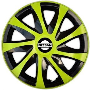 "Radkappen für NISSAN 15"", DRACO grün 4 Stück"
