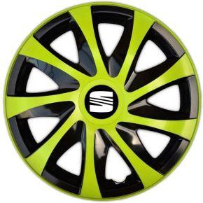 "Radkappen für SEAT 15"", DRACO grün 4 Stück"