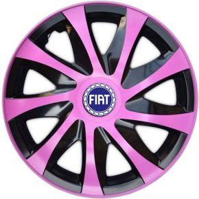 "Radkappen für FIAT BLUE 15"", DRACO rosa 4 Stück"