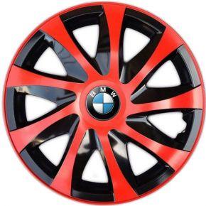 """Radkappen für BMW 14"""", DRACO rot 4 Stück"""