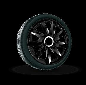 """Radkappen für FIAT 13"""", DRIFT schwarz lackiert 4 Stück"""