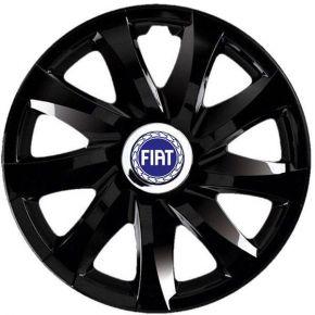 """Radkappen für FIAT 16"""", DRIFT schwarz lackiert 4 Stück"""