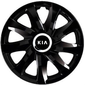 """Radkappen für KIA 13"""", DRIFT schwarz lackiert 4 Stück"""