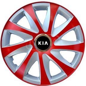 """Puklice pre KIA 16"""", DRIFT EXTRA červeno-strieborné 4ks"""
