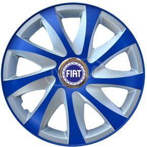 "Radkappen für FIAT 14"", DRIFT EXTRA blau-silber  4 Stück"