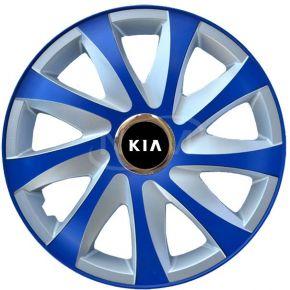 "Radkappen für KIA 15"", DRIFT EXTRA blau-silber  4 Stück"