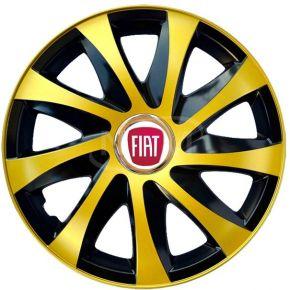 """Radkappen für FIAT 15"""", DRIFT EXTRA goldene 4 Stück"""