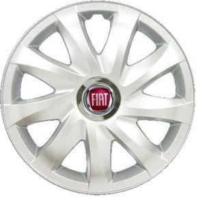 """Radkappen für FIAT 15"""", DRIFT grau lackiert 4 Stück"""