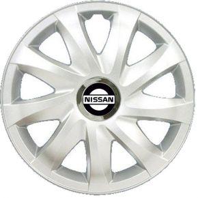 """Radkappen für NISSAN 15"""", DRIFT grau lackiert 4 Stück"""