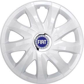 "Radkappen für FIAT BLUE 16"", DRIFT weiß lackiert 4 Stück"