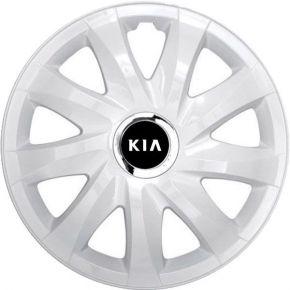 "Radkappen für KIA 14"", DRIFT weiß lackiert 4 Stück"