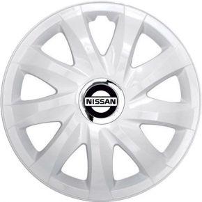 "Radkappen für NISSAN 15"", DRIFT weiß lackiert 4 Stück"