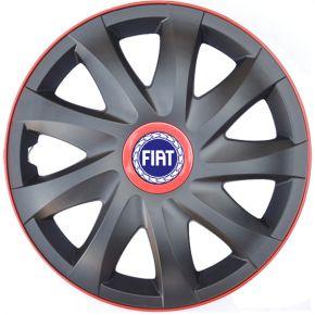 "Radkappen für FIAT 14"", KANDO RACE rot 4 Stück"