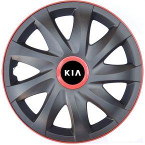 "Radkappen für KIA 14"", KANDO RACE rot 4 Stück"