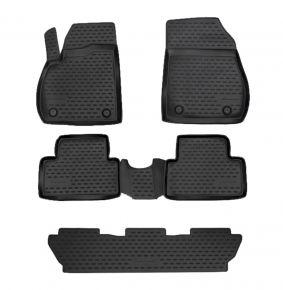 Gummi Fußmatten OPEL ZAFIRA C 2012-up, 5 SEATS 5 Stück