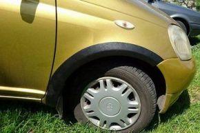 Kunststoff Anhänger Kotflügel für TOYOTA YARIS I 3-Türen 1999-2006
