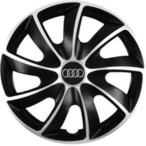 """Puklice pre Audi 15"""", Quad bicolor, 4 ks"""