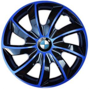 "Radkappen für BMW 15"", QUAD BICOLOR blau 4 Stück"