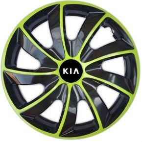 "Radkappen für KIA 15"", QUAD BICOLOR grün 4 Stück"