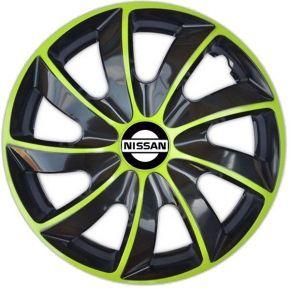 "Radkappen für NISSAN 15"", QUAD BICOLOR grün 4 Stück"