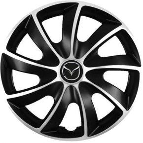 """Puklice pre Mazda 14"""", Quad bicolor, 4 ks"""