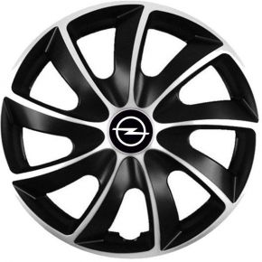 "Puklice pre Opel 14"", Quad bicolor, 4 ks"