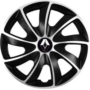 """Puklice pre Renault 14"""", Quad bicolor, 4 ks"""