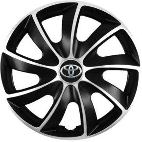 """Puklice pre Toyota 14"""", Quad bicolor, 4 ks"""